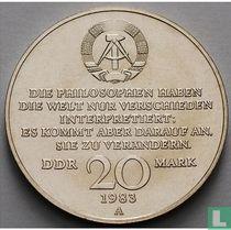 "DDR 20 mark 1983 ""100th anniversary Death of Karl Marx"""
