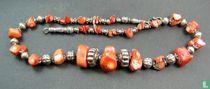 A coral bead necklace - BERBER - Morocco