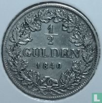 Baden ½ gulden 1840