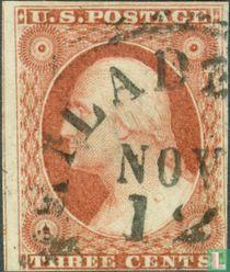 """Präsidenten mit der Aufschrift """"US-Briefmarke"""", Typ 1"""