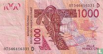 1000 Francs West Afrikaanse Staten