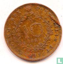 Açores 10 réis 1865