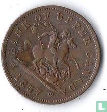Upper-Canada 1 penny 1857