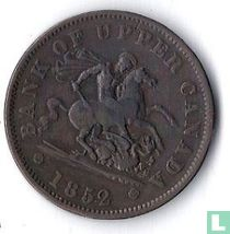 Upper-Canada 1 penny 1852