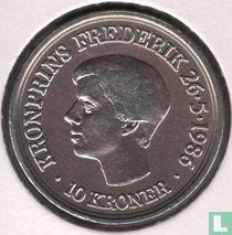 "Denemarken 10 kroner 1986 ""18e verjaardag kroonprins Frederik"""