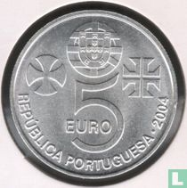 """Portugal 5 euro 2004 """"Convent of Christ in Tomar"""""""