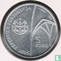 "Portugal 5 euro 2005 ""Monastery of Batalha"""