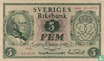 Schweden 5 Kronor 1948