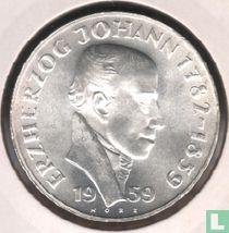 "Austria 25 schilling 1959 ""100th anniversary Death of Archduke Johann"""
