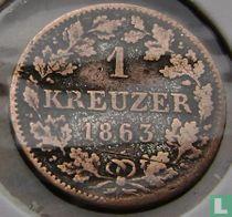 Beieren 1 kreuzer 1863