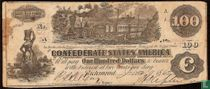 Confederate States of America  100 dollars  1864
