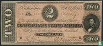 Confederate States of America  2 dollars  1864