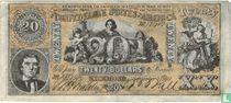 Confederate States of America  20 dollars 1861 (REPLICA)