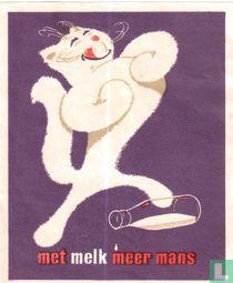 Met melk meer mans