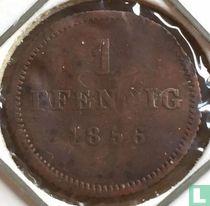 Beieren 1 pfennig 1856