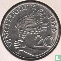 Zaïre 20 makuta 1976