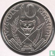 Zaïre 10 makuta 1976