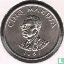 Congo-Kinshasa 5 makuta 1967