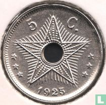 Belgian Congo 5 centimes 1925