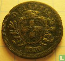 Zwitserland 1 rappen 1850