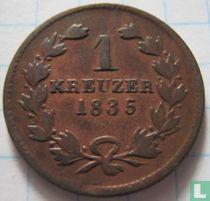 Baden 1 kreuzer 1835