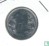 India 1 rupee 2014 (Hyderabad)