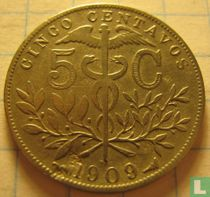 Bolivia 5 centavos 1909