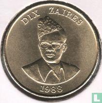 Zaïre 10 zaires 1988