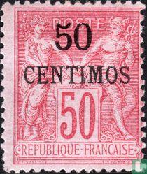 Vrede en Handel, met opdruk (type II)