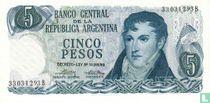 Argentinië 5 Pesos 1974