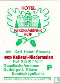 Hotel Niedermeiner Hof - Karl Heinz Stemme