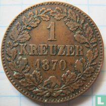 Baden 1 kreuzer 1870