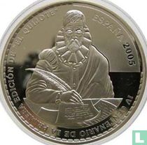 """Spain 50 euro 2005 (PROOF) """"400th anniversary of the first edition of Don Quixote de La Mancha - The ingenious gentleman Don Quixote de La Mancha"""""""