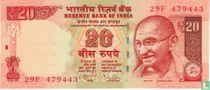India 20 Rupees 2013