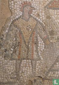 4th century mosaic of cock-headed man