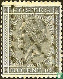 Koning Leopold I in profiel