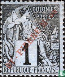 Type Dubois 'St Pierre M-on' - rotem Aufdruck