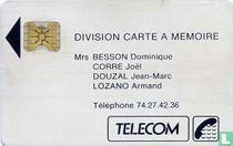 Division carte a memoire