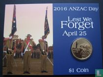 "Australië 1 dollar 2016 (coincard) ""ANZAC Day"""