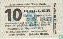 Klagenfurt 10 Heller 1919