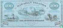 Hawaii 100 Dollars ND (1879) Reproduction