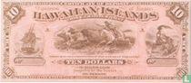 Hawaii 10 Dollars ND (1880) Reproduction
