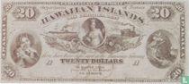 Hawaii 20 Dollars ND (1879) Reproduction