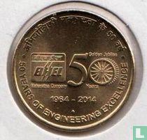 "India 5 rupees 2014 (Mumbai) ""Golden Jubilee of BHEL"""