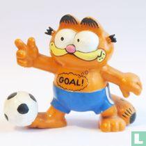 "Garfield with football ""Goal!"""