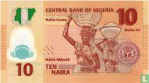 Nigeria 10 Naira 2009 (P39a1)