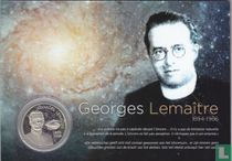 """Belgium 5 euro 2016 (coincard) """"50th anniversary of the death of Georges Lemaître"""""""