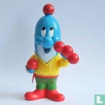 Dolfi als jongleur