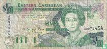 Oost. Caraïben 5 Dollars A