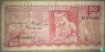 Ruanda-Urundi 50 Francs 1960
